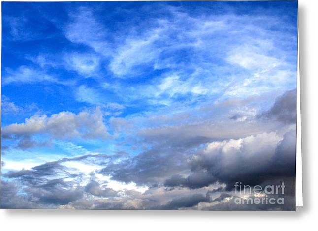 Cool Clouds Greeting Card by Jay Nodianos