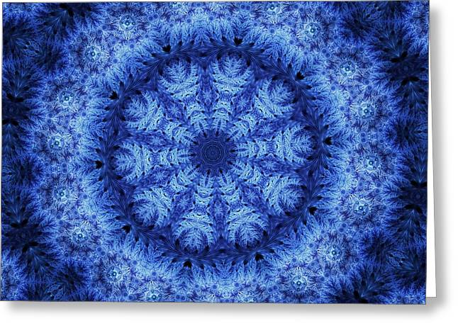 Greeting Card featuring the digital art Cool Down Series #1 Snowflake by Lilia D