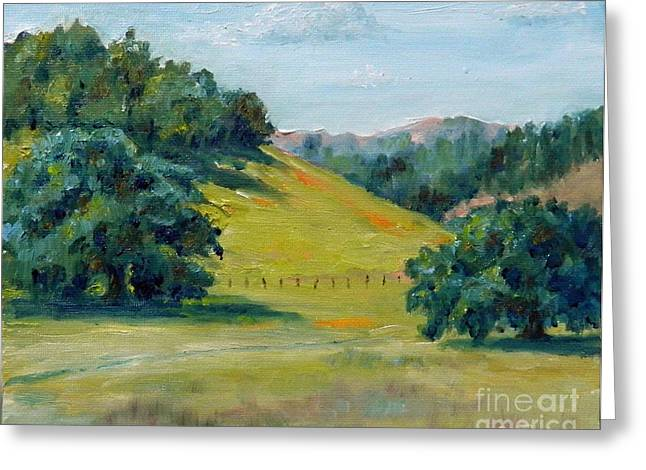 Cool Meadow Greeting Card by William Reed
