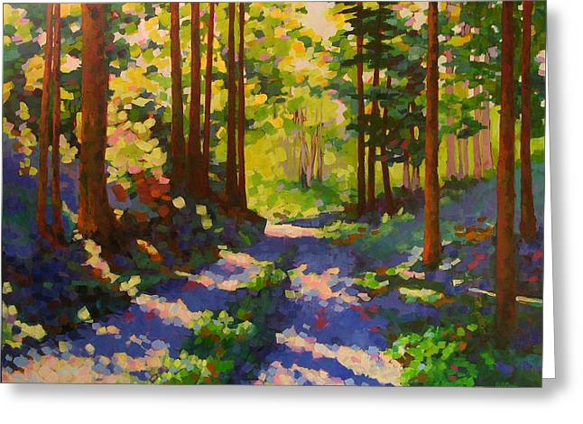 Cool Of The Shade Greeting Card by Mary McInnis