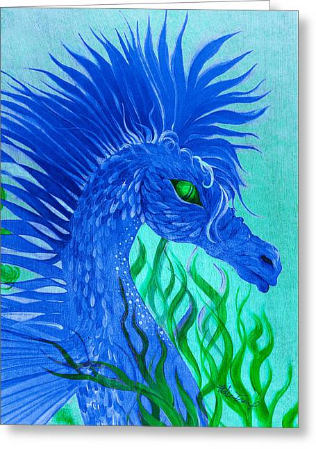Cool Sea Horse Greeting Card by Adria Trail