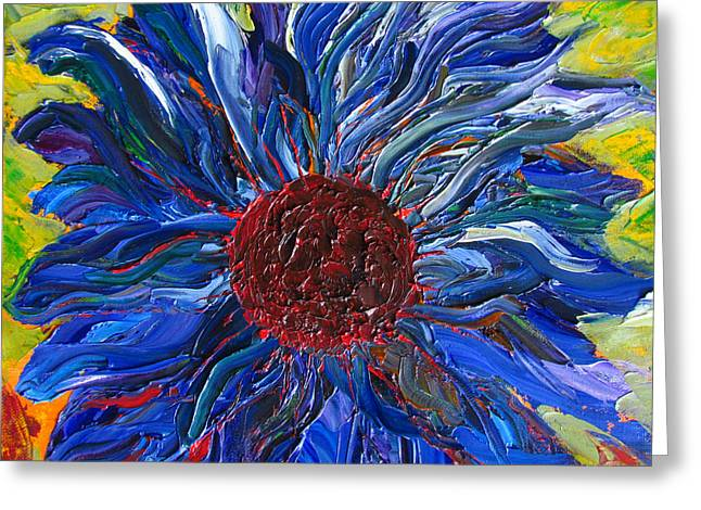 Cool Sunflower On A Sunny Day Greeting Card