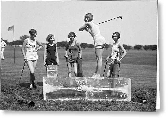 Cool Tee Time Greeting Card by Underwood Archives