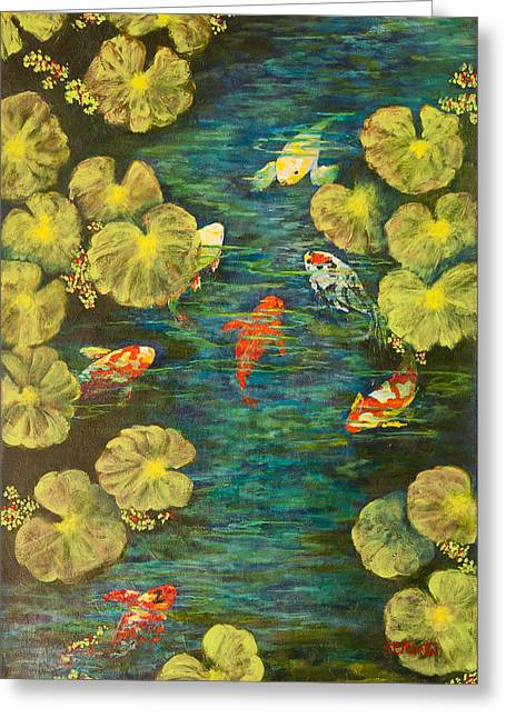 Cool Water Sanctuary Greeting Card by Annie St Martin