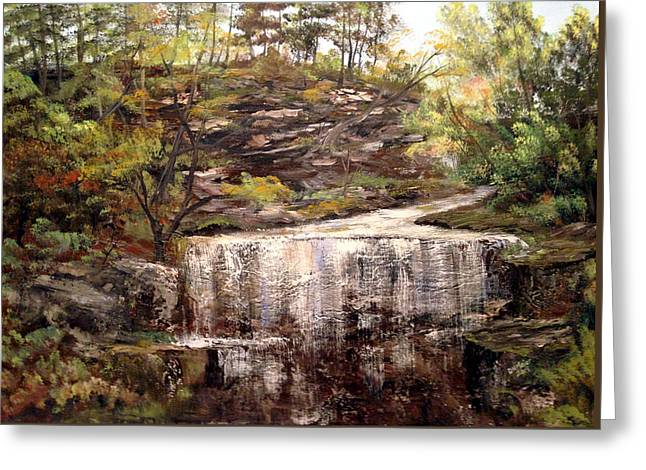 Cool Waterfall Greeting Card by Dorothy Maier