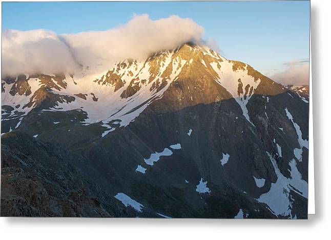 Cool Whip - Mountain Sunrise Greeting Card by Aaron Spong