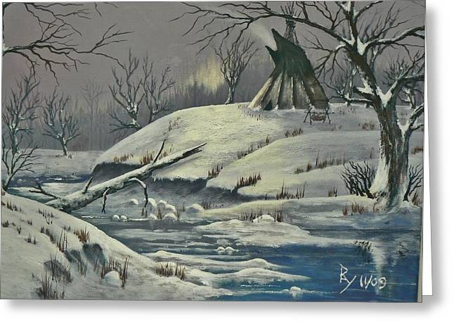Cool Winter Eve Greeting Card