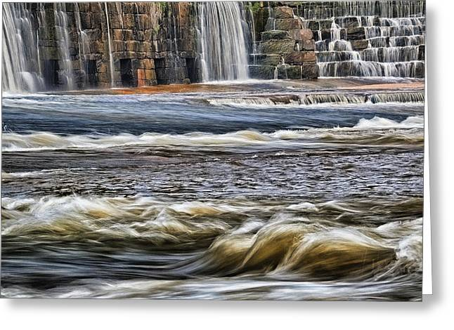 Cooleemee Falls 3 Greeting Card by Patrick M Lynch