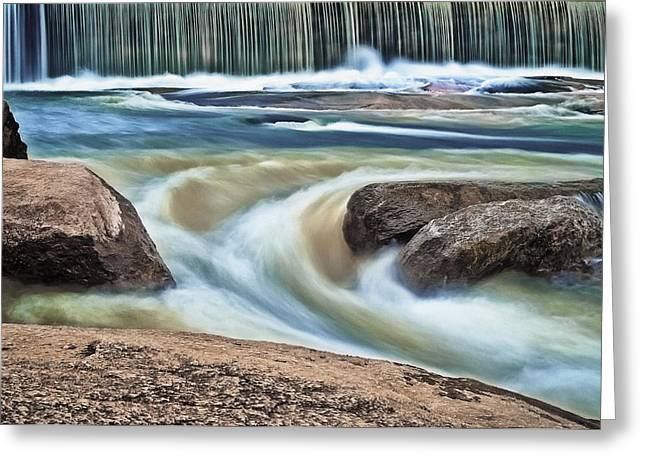 Cooleemee Falls 5 Greeting Card by Patrick M Lynch