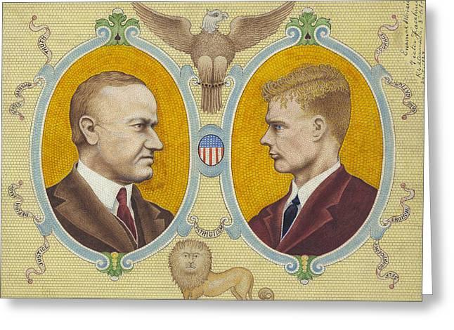 Coolidge And Lindbergh Greeting Card