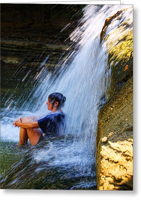 Cooling Off At Stony Brook State Park Greeting Card
