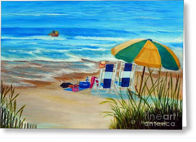 Greeting Card featuring the painting Cooling Off by Shelia Kempf
