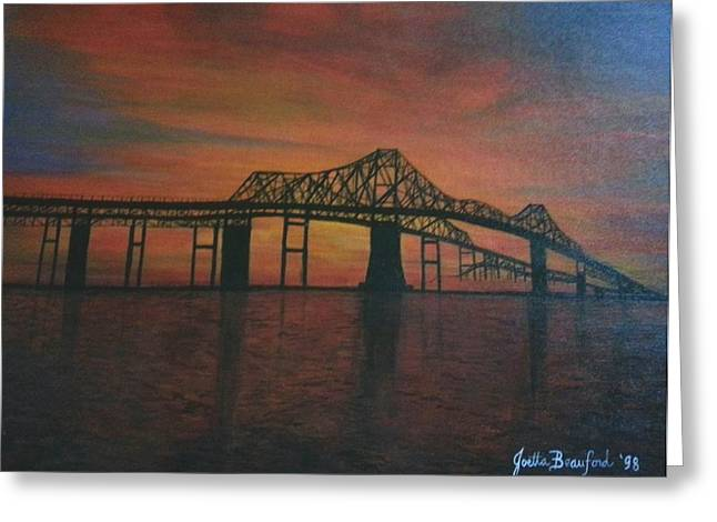 Cooper River Bridge Memories Greeting Card