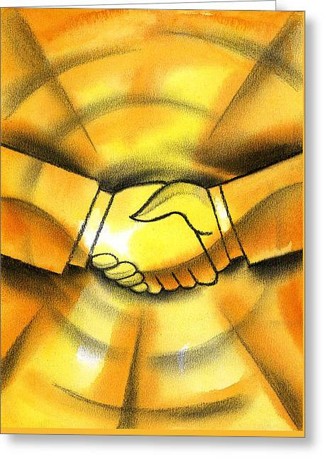 Cooperation Greeting Card by Leon Zernitsky