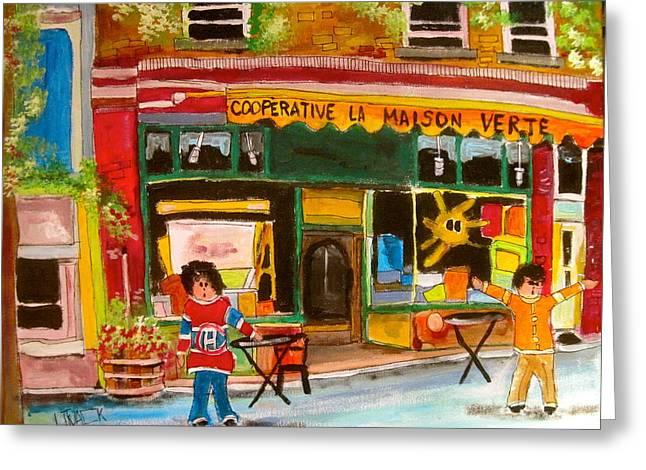Cooperative La Maison Verte Greeting Card by Michael Litvack