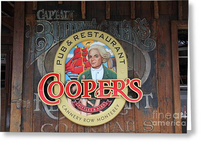 Coopers Pub And Restaurant On Monterey Cannery Row California 5d24779 Greeting Card