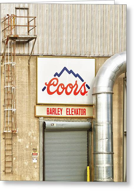 Coors Barley Elevator  Greeting Card by James BO  Insogna