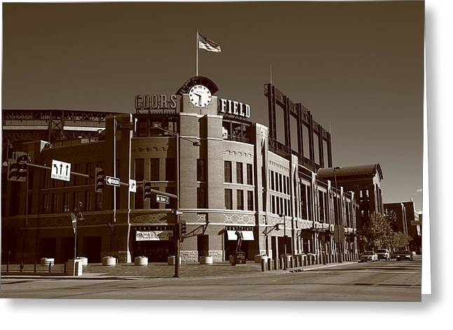 Coors Field - Colorado Rockies 17 Greeting Card by Frank Romeo