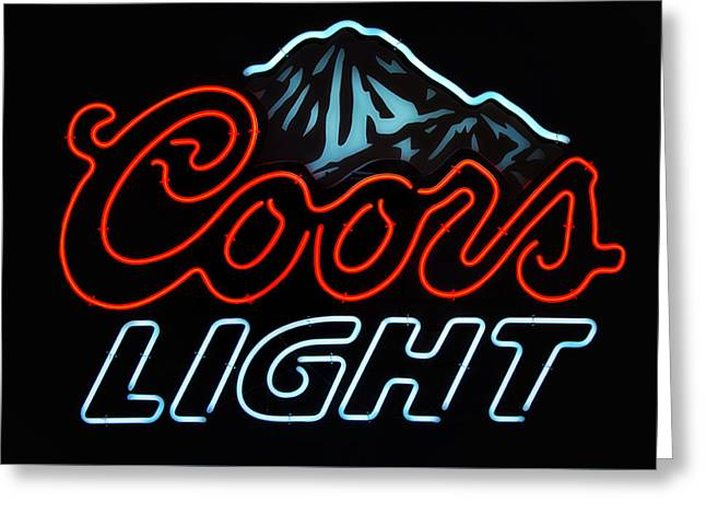 Coors Light Sign Greeting Card