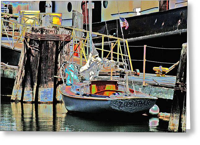 Coos Bay Harbor Greeting Card