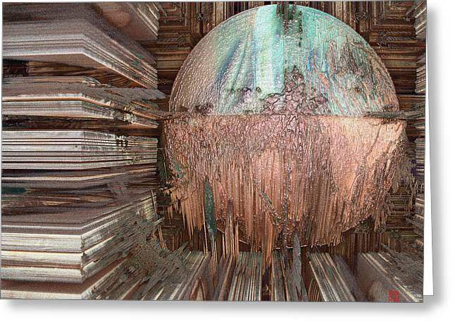Copper Ball Greeting Card by David Jenkins