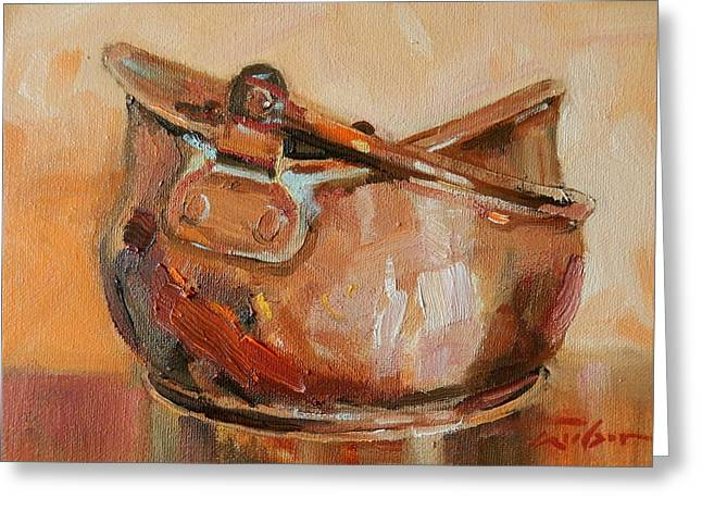 Copper Bowl Greeting Card by Ron Wilson
