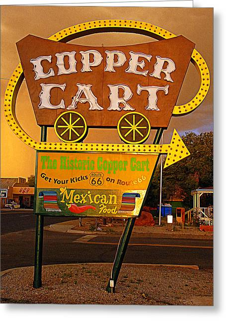 Copper Cart Greeting Card by Ron Regalado