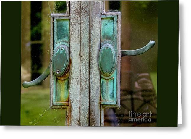 Copper Doorknobs Greeting Card