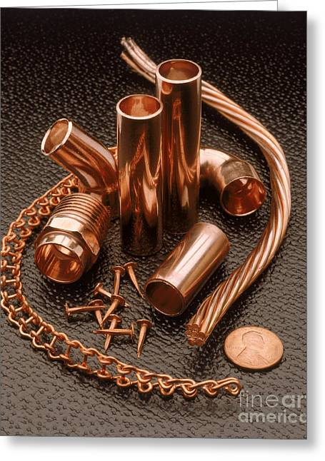 Copper Greeting Card by Erich Schrempp