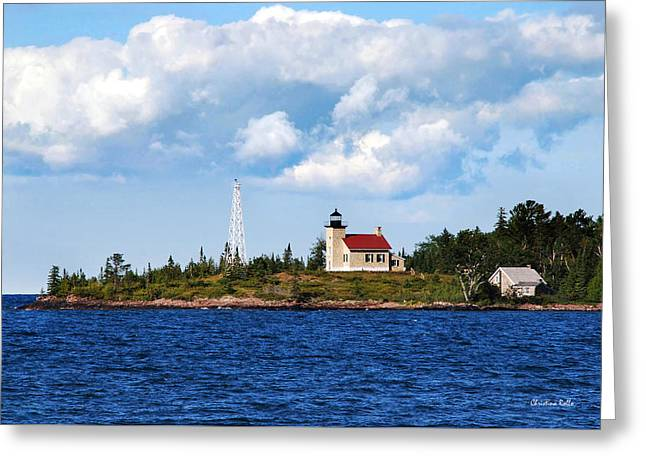 Copper Harbor Lighthouse Greeting Card by Christina Rollo