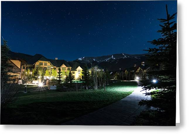 Copper Mountain Village Greeting Card by Michael J Bauer