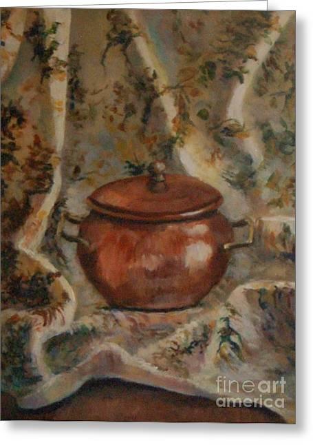 Copper Pot Greeting Card by Jana Baker
