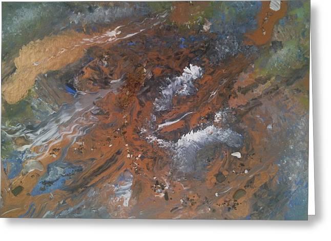Copper Symphony Greeting Card by Charlene Sawe