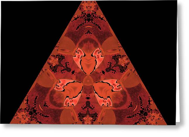 Copper Triangle Abstract Greeting Card