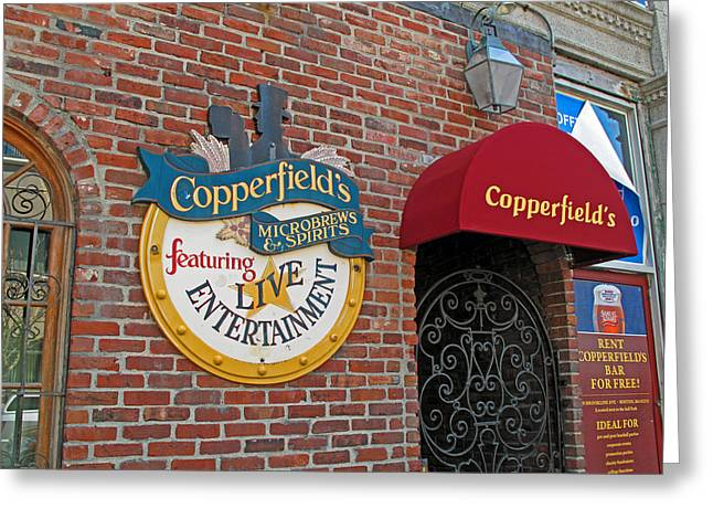 Copperfields Greeting Card by Barbara McDevitt