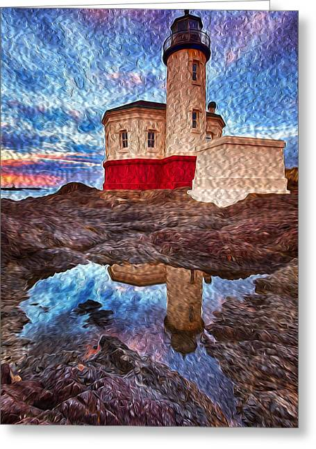 Coquille Rising Oil Painting Greeting Card