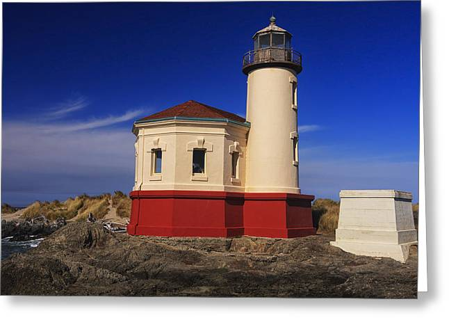 Coquille River Lighthouse 2 Greeting Card by Mark Kiver