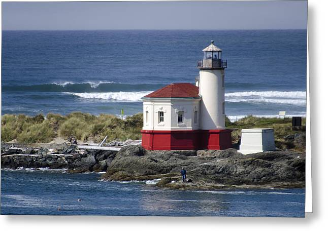 Coquille River Lighthouse Greeting Card