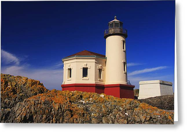 Coquille River Lighthouse Greeting Card by Mark Kiver