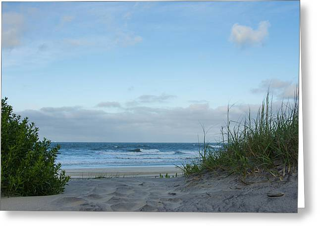 Greeting Card featuring the photograph Coquina Beach by Gregg Southard