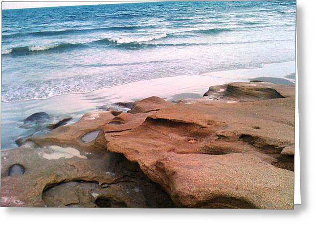 Coquina Blue Greeting Card by Julie Wilcox