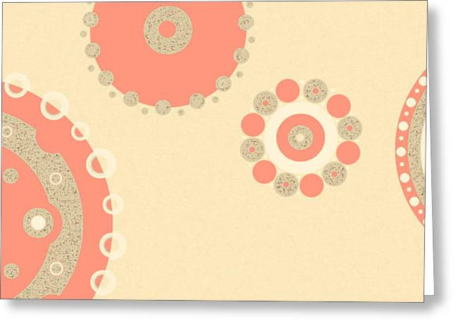 Greeting Card featuring the digital art Coral And Cork by Kjirsten Collier