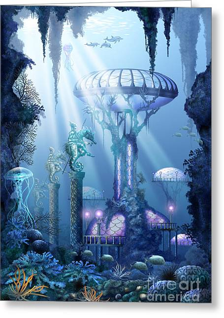 Coral City   Greeting Card