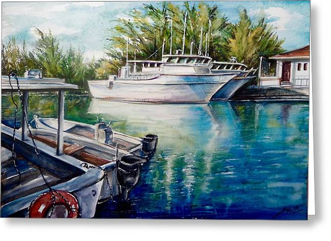Coral Harbour 3 Greeting Card