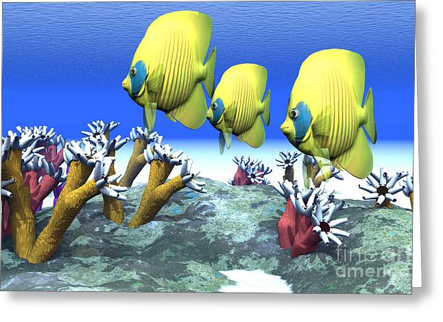 Sea Life Digital Greeting Cards - Coral Moods Greeting Card by Corey Ford