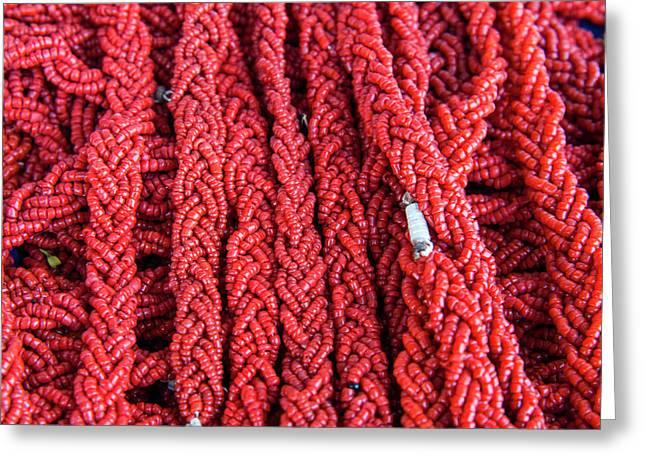 Coral Necklaces, Tabarka, Tunisia Greeting Card by Nico Tondini