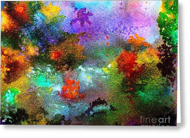 Coral Reef Impression 1 Greeting Card by Hazel Holland