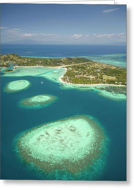 Coral Reef And Malolo Lailai Island Greeting Card
