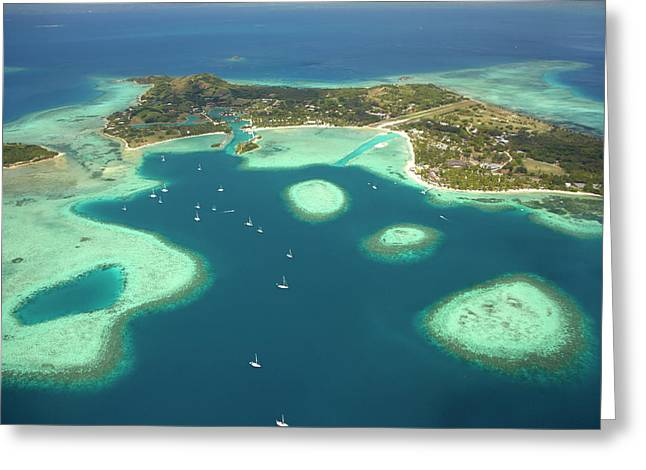 Coral Reef And Musket Cove Island Greeting Card