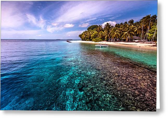 Coral Reef At Royal Island Resort Greeting Card